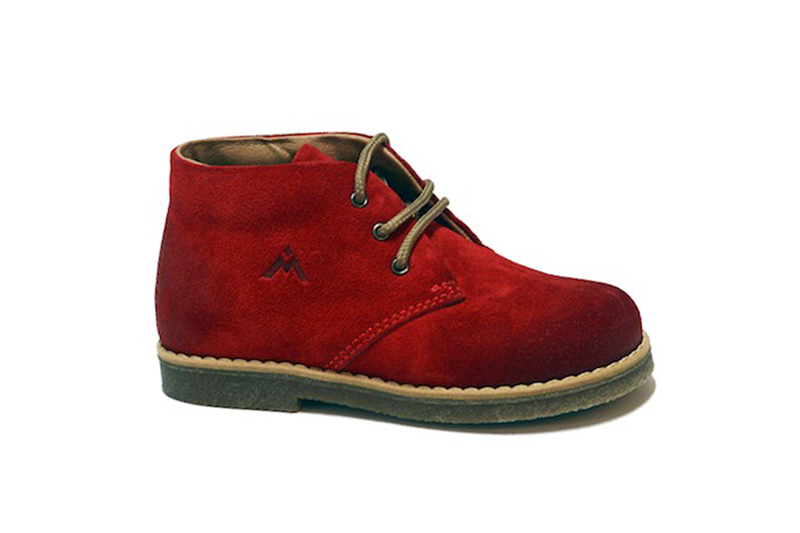 Morelli Red Suede Lace-Up Boots